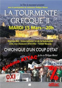 film La Tourmente grecque 15 mars